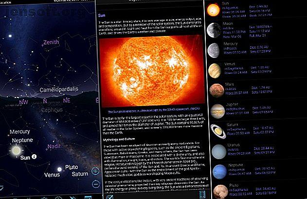 Aimez l'astronomie?  Voulez-vous lancer votre stargazing un niveau?  Voici quelques applications d'astronomie impressionnantes pour les utilisateurs d'Android et d'iPhone.
