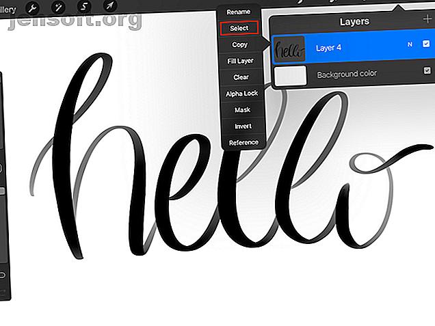 आप ब्लेंडेड रंगों, फोटो, और बहुत कुछ के साथ लेटरिंग भरने के लिए Procreate के मास्किंग फीचर का उपयोग कर सकते हैं।