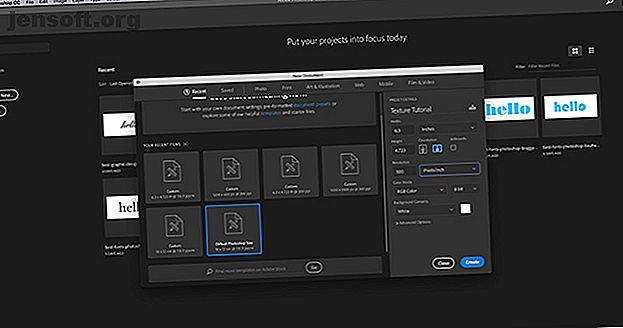 Aquí se explica cómo crear una textura en Photoshop CC y cómo aplicar esa textura a otra imagen.