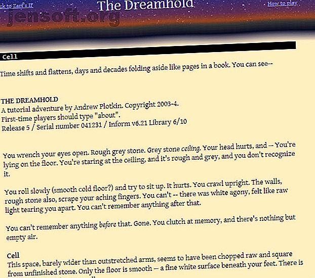 Voulez-vous jouer à des jeux en mode texte dans votre navigateur Web?  Voici quelques excellents jeux à base de texte pour tous ceux qui ont besoin de fiction interactive dans leur vie.
