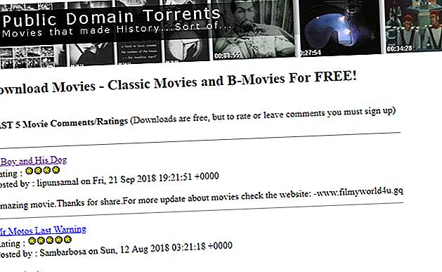 Les films du domaine public peuvent être téléchargés librement et légalement.  En quelques clics, vous pourriez regarder des films brillants.