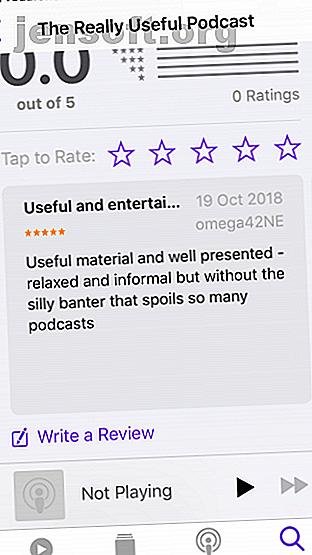 Consulter votre podcast préféré sur iTunes est un moyen simple d'aider les responsables.  Mais comment fais-tu cela?