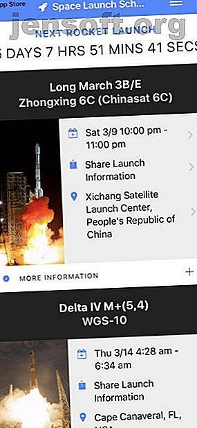 Êtes-vous intéressé par les lancements de fusées, les affiches spatiales et l'exploration spatiale?  Allez hardiment en avant avec ces applications et sites.