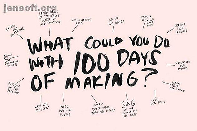 Un projet de 100 jours est un projet de créativité simple qui vous demande de vous engager pour une chose pendant 100 jours consécutifs.  Faites l'un des vôtres.