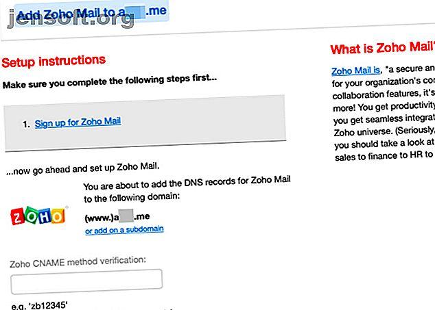 Vous voulez votre propre adresse e-mail personnalisée gratuitement?  Configurez simplement l'hébergement gratuit d'e-mails sur votre propre domaine avec Zoho Mail.