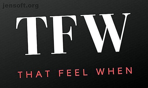 Si vous êtes un habitué des médias sociaux, vous avez peut-être vu cet acronyme à côté d'une anecdote amusante.  Mais que veut dire TFW?