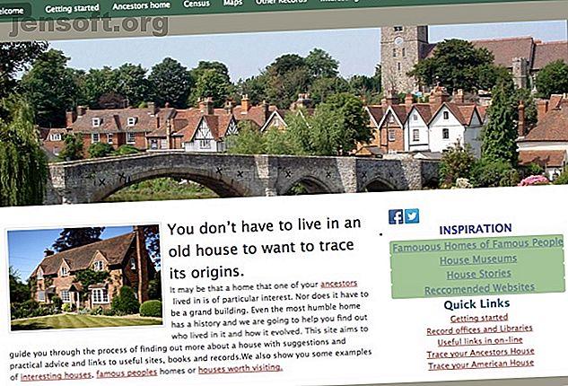 Jedes Haus hat eine Geschichte.  Wenn Sie die Geschichte Ihres eigenen Hauses nachvollziehen möchten, probieren Sie diese fantastischen Online-Ressourcen noch heute aus.