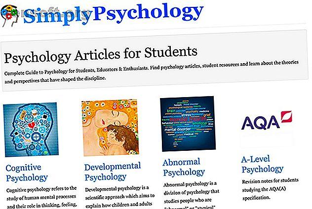 La psychologie explique pourquoi nous faisons les choses comme nous le faisons.  Utilisez ces sites Web pour apprendre tout ce que vous avez toujours voulu savoir.