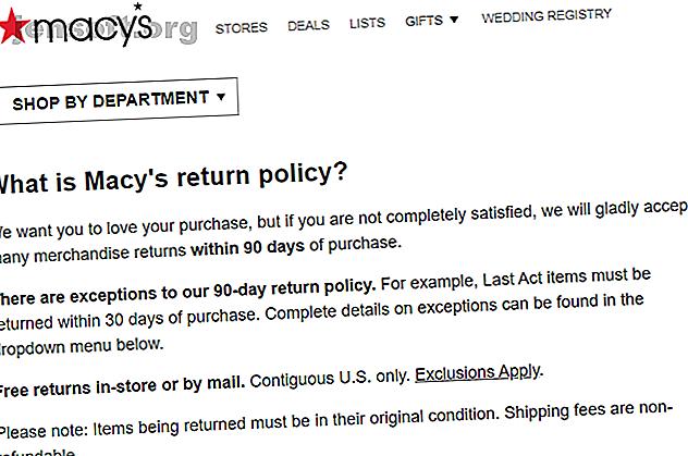 Pouvez-vous obtenir un remboursement sur une marchandise si vous perdez le reçu?  Voici quelques politiques de retour où c'est possible.