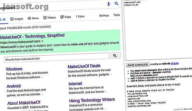Saviez-vous que vous pouvez modifier l'aspect et les fonctionnalités des résultats de recherche de Google?  Téléchargez ces extensions aujourd'hui.