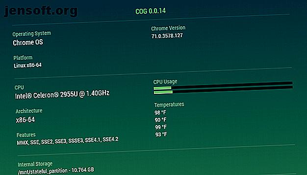 Vous souhaitez connaître la quantité de mémoire vive ou de stockage disponible sur votre Chromebook?  Voici comment vérifier les spécifications du système et comparer votre appareil avec d'autres.