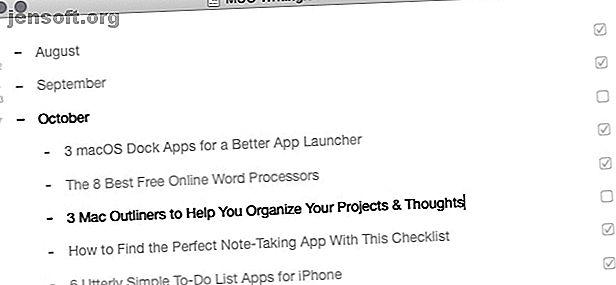 En décrivant peut vous aider à garder vos idées et projets organisés.  Voici quelques applications Mac formidables pour la présentation de projets et d'idées.