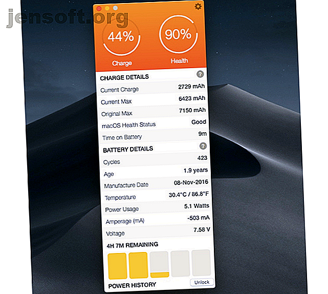 Voulez-vous tirer le meilleur parti de la batterie de votre MacBook?  Ces applications vous permettent de garder un œil sur l'état de la batterie et d'améliorer sa durée de vie.