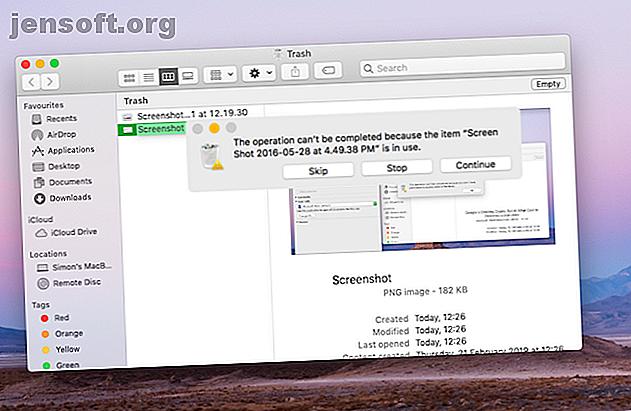 Versuchen Sie, Dateien aus dem Papierkorb auf Ihrem Mac zu löschen, und haben Sie Probleme?  Hier finden Sie eine Anleitung zur Fehlerbehebung beim Leeren des Papierkorbs.