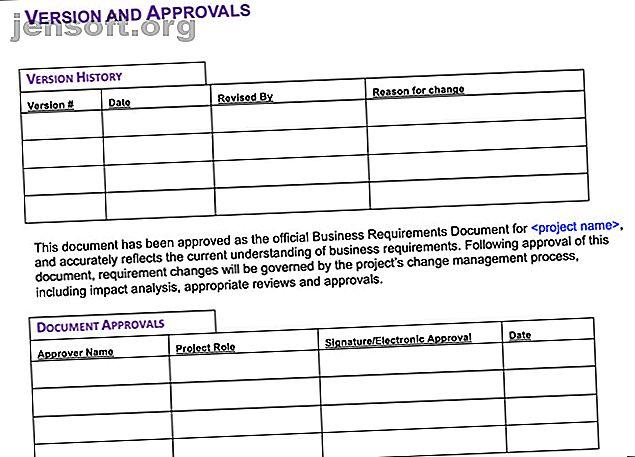 Vous recherchez des moyens de rédiger un document d'exigences commerciales?  Utilisez l'un de ces modèles de BRD utiles pour Microsoft Word.