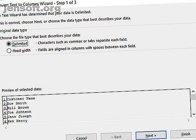 Jobbar du med namn i Microsoft Excel?  Här är en användbar handledning som visar hur du fördelar för- och efternamn i Excel.