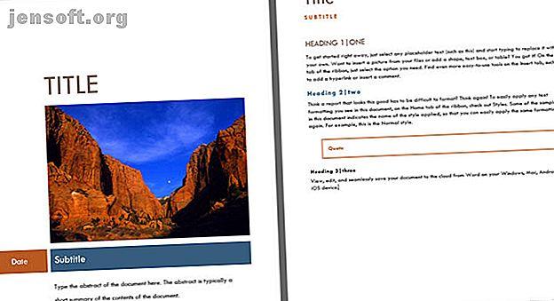En attraktiv försidesida tillför ett professionellt utseende till ditt dokument.  Dessa Microsoft Word-mallar är för det första intrycket.