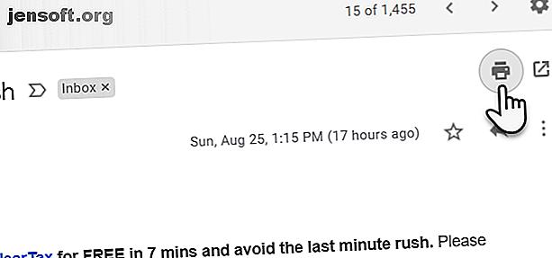 Det kommer att finnas tillfällen då du behöver en fysisk utskrift av en viktig e-post.  Så här skriver du ut ett e-postmeddelande var som helst.