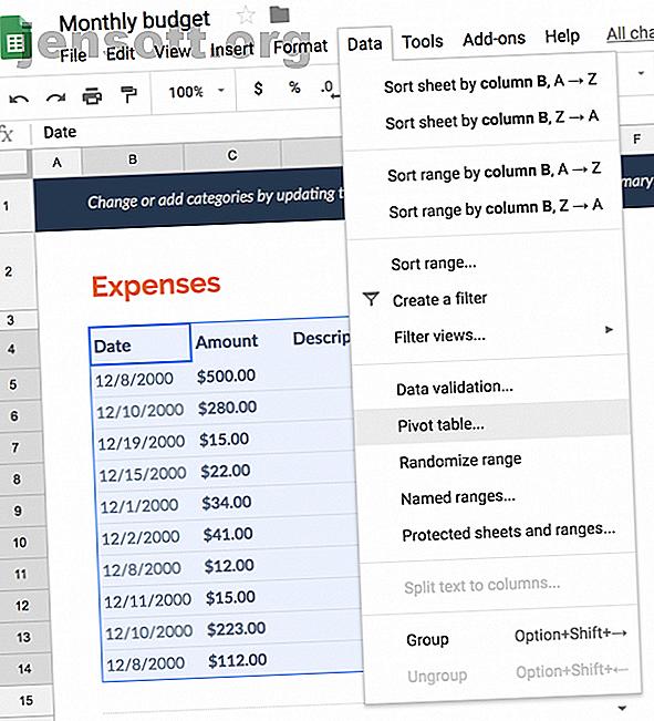 Pivottabeller i Google Sheets tillåter dig att generera sammanfattningar av dina data, vilket gör det mycket effektivare dataanalys.