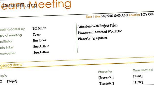 Mit diesen kostenlosen Meeting-Agenda-Vorlagen für Microsoft Word können Sie für jede Art von Meeting einen guten Start hinlegen.