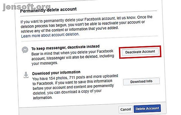Vous pensez quitter Facebook?  Voici comment la suppression ou la désactivation de Facebook peut améliorer votre confidentialité en ligne.