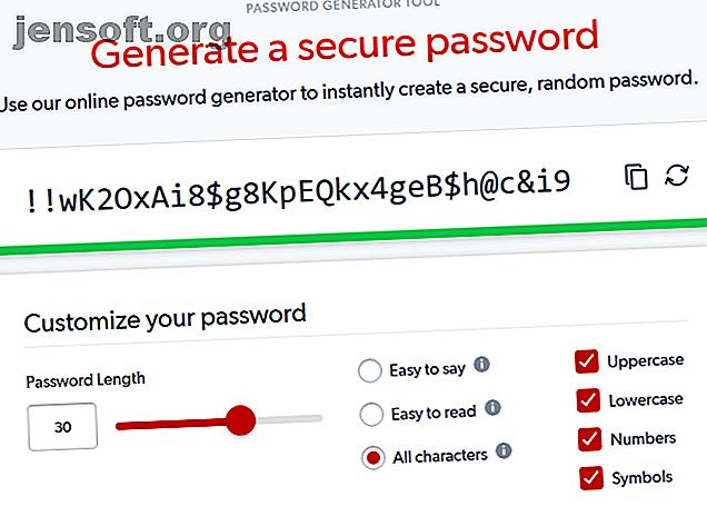 Vous cherchez un moyen de créer rapidement un mot de passe incassable?  Essayez l'un de ces générateurs de mots de passe en ligne.