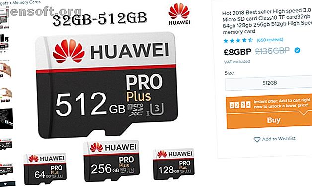 Les fausses cartes microSD ont des capacités de stockage élevées trompeuses.  Ne soyez pas dupe!  Voici comment repérer une fausse carte microSD.