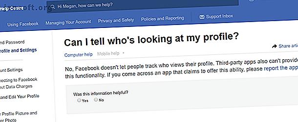 Qui voit votre profil Facebook?  Dans cet article, nous dissipons certains mythes sur la possibilité de savoir qui a consulté votre profil.