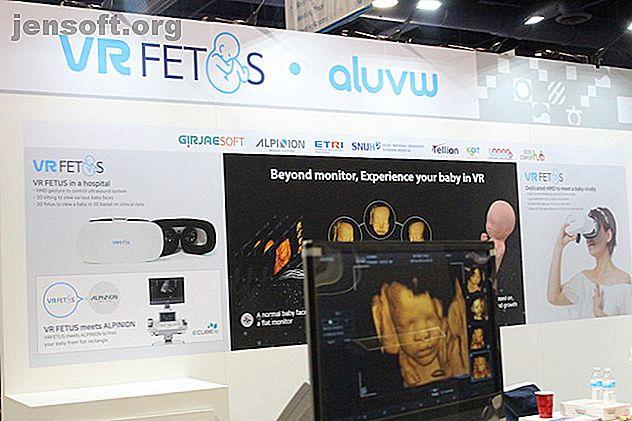 VRFetus au CES 2019 est un développement excitant de la technologie de la grossesse.  Cela permet aux mères de voir un modèle de leur bébé en croissance.