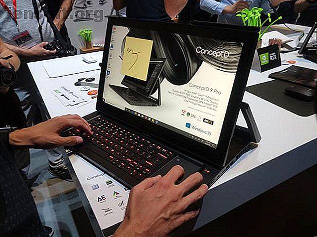 La gama ConceptD de Acer se dirige a todas las formas de creadores de contenido.  El 9 Pro combina un diseño de bisagra único con componentes potentes.