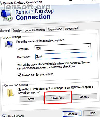 ¿Usando la conexión de escritorio remoto de Windows?  Cree configuraciones de conexión de escritorio remoto personalizadas para ahorrar mucho tiempo.