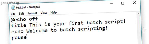 Cet article explique comment créer un fichier de commandes en cinq étapes simples pour le système d'exploitation Windows.