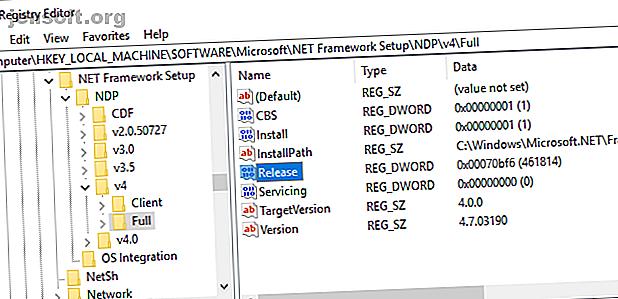 Vous voulez connaître la version spécifique du .NET Framework installée sur votre système?  Voici les différentes façons de le savoir.