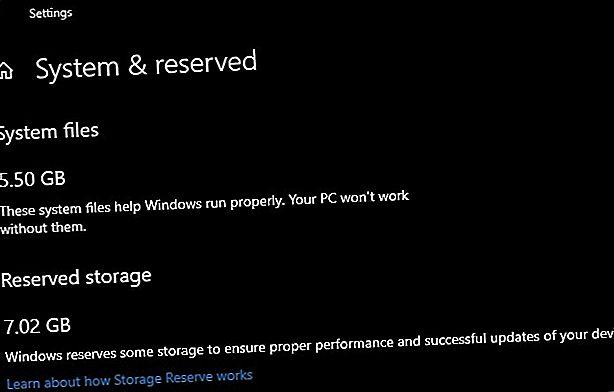 Le stockage réservé sur Windows 10 est destiné aux mises à jour transparentes.  Voici comment le gérer et pourquoi vous pourriez vouloir le désactiver.