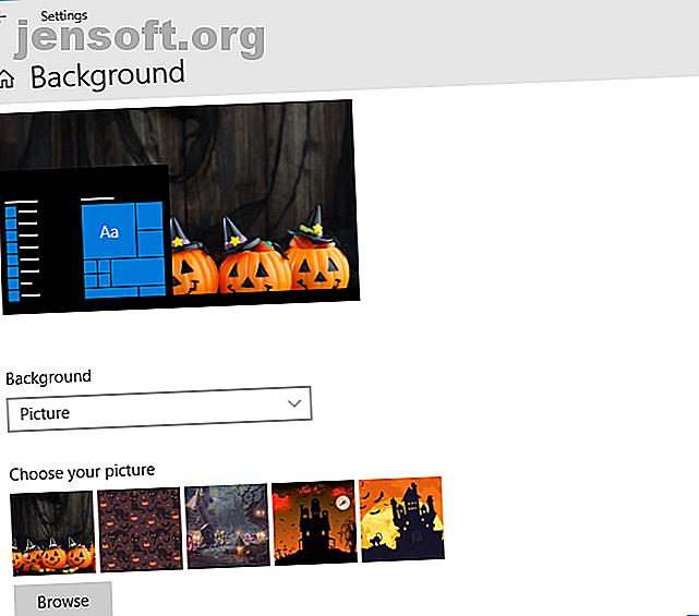 Hay muchas formas divertidas e interesantes de personalizar tu computadora con Windows 10 para Halloween.